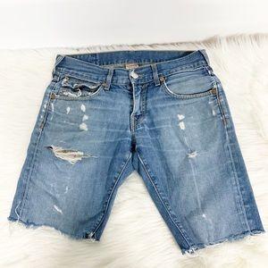 True Religion | Denim Distressed cutoff shorts